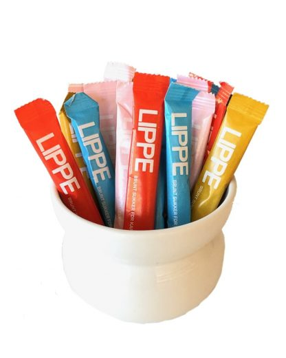 LIPPE sukkerposer med lys brunt sukker